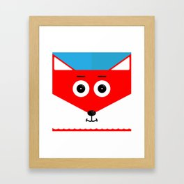 Zowie, the Fox Framed Art Print