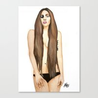 artpop Canvas Prints featuring ARTPOP by Alfonso Aranda