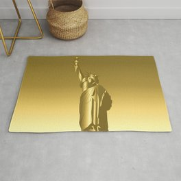 Gold Statue of Liberty Rug