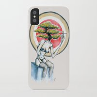 health iPhone & iPod Cases featuring Health by M. Adeline Nef