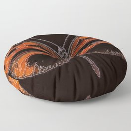 Untitled Butterfly 2 Floor Pillow