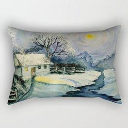 Winter, watercolor Rectangular Pillow