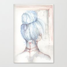 Blue Haired Longing Canvas Print