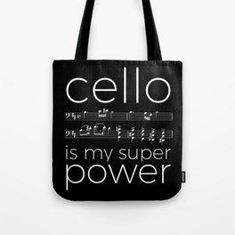 Cello power - black Tote Bag
