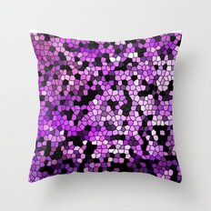 STAINED GLASS PURPLES Throw Pillow