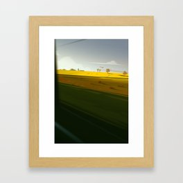 Trainblur4 Framed Art Print