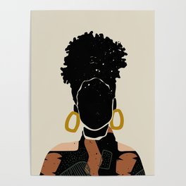Black Hair No. 14 Poster