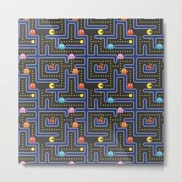 pacman maze Metal Print