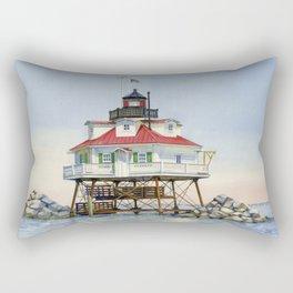Thomas Point Light Rectangular Pillow