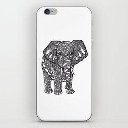 Ink Drawing, Zendoodle Elephant iPhone Skin