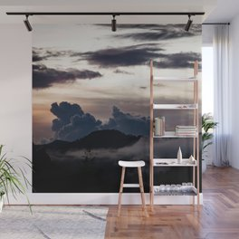 Clouds in the mountains Wall Mural