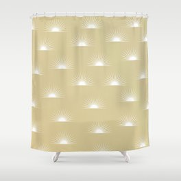 sun pattern Shower Curtain
