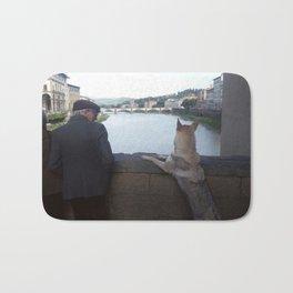 On the Ponte Vecchio, Florence Bath Mat