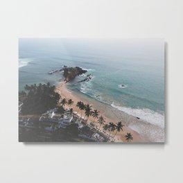 Aerial Mirissa Beach, Sri Lanka 2 Metal Print