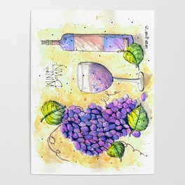 Wine Down Poster