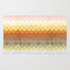Half Circles Waves Color Rug