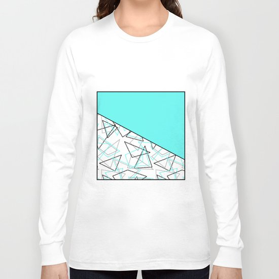 Abstract turquoise combo pattern . Long Sleeve T-shirt