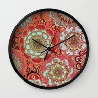 baroque Wall Clocks featuring Baroque Obsession by micklyn