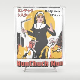 Nunchuck Nun Shower Curtain