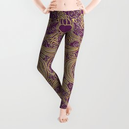 Boho Chic Bordo Leggings