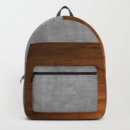 Concrete x Rustic Wood Two Tone Backpack