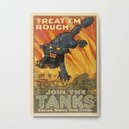 Vintage poster - Join the Tanks Metal Print