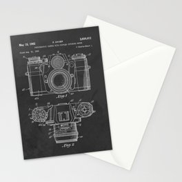 Vintage Camera Patent Chalkboard Stationery Cards