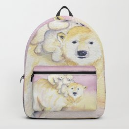 Polar Bear Family Backpack