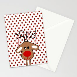 Reindeer Christmas Stationery Cards