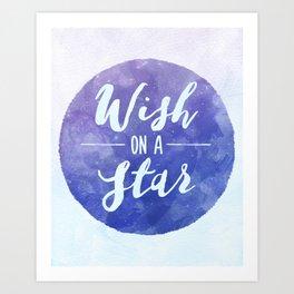 Wish on a star! Art Print