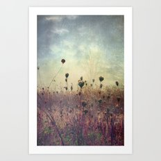 Her Mind Wandered in Beautiful Worlds Art Print