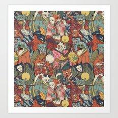 Night parade Art Print