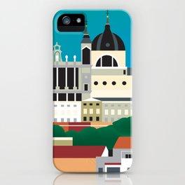 Madrid, Spain - Skyline Illustration by Loose Petals iPhone Case