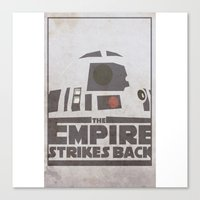 r2d2 Canvas Prints featuring R2D2 by David Landau