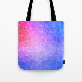 Abstract Colorful Flashy Geometric Triangulate Design Tote Bag