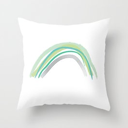 Green Rainbow Pattern Throw Pillow