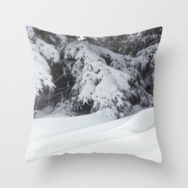 Snowdrifts and Spruce Branches After the Blizzard Throw Pillow