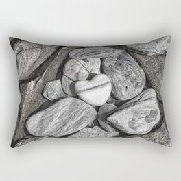 Stone Heart Rectangular Pillow