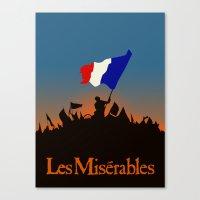 les miserables Canvas Prints featuring Les Miserables by TheWonderlander