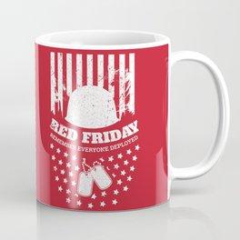 Red Friday American Flag Military Coffee Mug