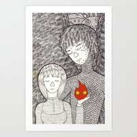 howl Art Prints featuring Howl by nu boniglio