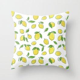 Lemon Leaf Throw Pillow