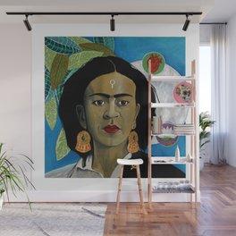 Symbols of Frida Kahlo Wall Mural