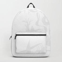 Lustiges Totenkopf-Besen Design für Halloween Fans graphic Backpack
