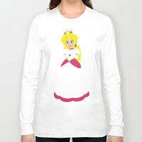 princess peach Long Sleeve T-shirts featuring Princess Peach - Minimalist #2 by Adrian Mentus