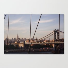 The Empire State Building and the Manhattan Bridge Canvas Print