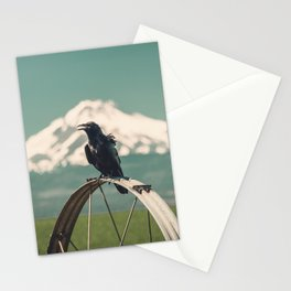 Mt. Jefferson Raven Stationery Cards