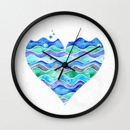 A Sea of Love (white) Wall Clock