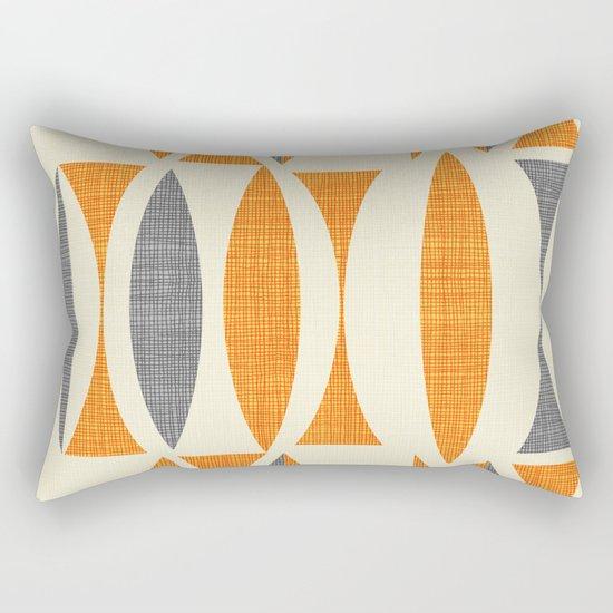 Seventies  orange Rectangular Pillow