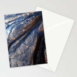 Over 300 meters of layered beds are exposed in this trough of Noctis Labyrinthus Stationery Cards